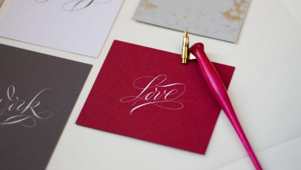 Love Copperplate Calligraphy : Каліграфія гострим пером (стиль копперплейт)